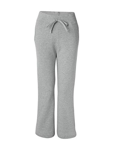 Gildan womens Heavy Blend 8 oz. 50/50 Open-Bottom Sweatpants(G184FL)-SPORT GREY-S (50 Open Bottom Sweatpants)