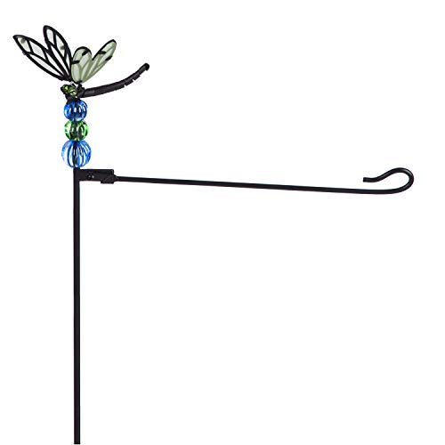 - Dragonfly Garden Flag Stand
