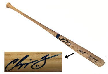 Chipper Jones Autographed Signed Rawlings Blonde Big Stick Name Engraved Bat #10- JSA Authentic