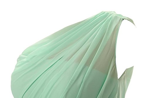 Brautjungferkleider One White Formelle Party Wedding Gray Lang Kleider Fanciest Damen Shoulder wRq11O