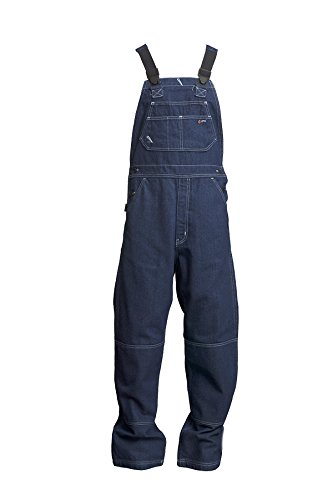 Lapco FR B13FRDN-5XL RG Flame Resistant Bib Overalls, 100% Cotton, HRC 2, NFPA 70E, 13 oz, 5X-Large Regular, Medium Denim Blue by Lapco FR (Image #4)