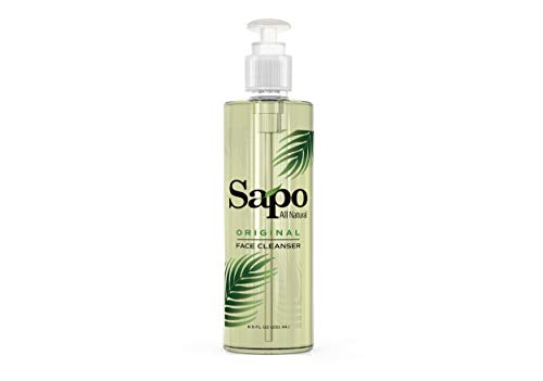 Sapo All Natural Face Cleanser. Anti-acne, Antiaging and Anti Blemish Face Wash. A Facial Cleanser for All Skin Types. Great for Sensitive Skin and Combination Skin. Hydrating and Moisturizing. 8.5 Oz