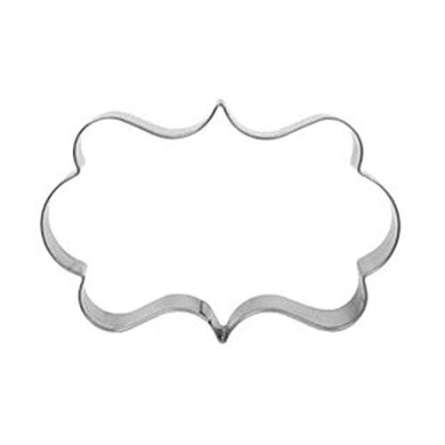 1Pcs Plaque Cutter Cookies Frame Cake Rectangle Fancy Stainless Steel Mold Mould 3D Molds Cookie Sugar Fondant Cakes Decoration Tools