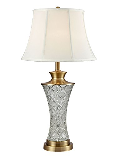 (Springdale by Dale Tiffany SGT16152 Collingwood Lead Crystal Table Lamp Antique Brass)