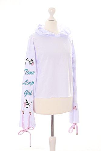 TS-93-1 Weiß Rosen bestickt Pastel Goth Lolita Kapuzen-Pullover Sweatshirt Harajuku Kawaii-Story