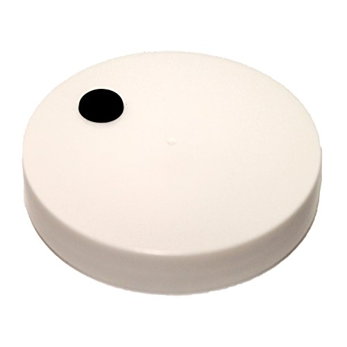 Homebrewers Outpost 45996 110mm Plastic Lid w/Hole and Grommet (Pack of 2) by Homebrewers Outpost