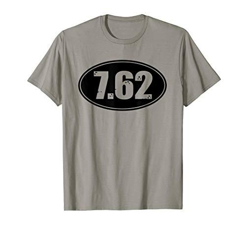 Mens 7.62 SKS AK47 Rifle Ammo Gun Bullet Size Dbl Sided Shirt