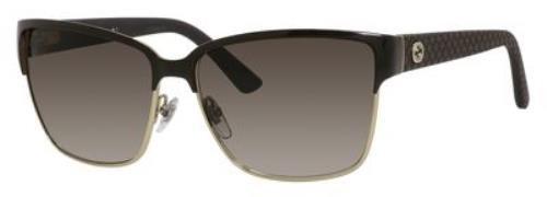Gucci Sunglasses - 4263 / Frame: Light Gold Brown Lens: Brown - Sunglasses Frame Gucci Metal