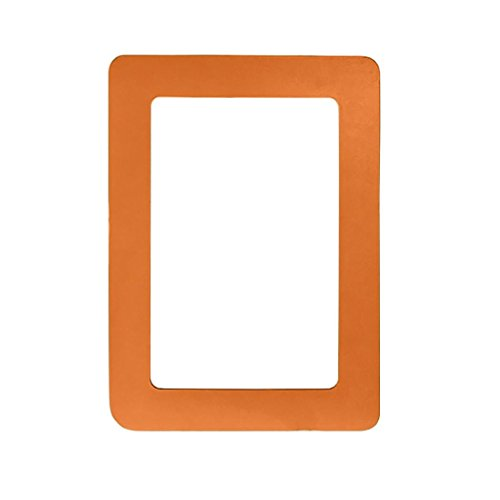 Yeefant Colorful Magnetic PVC Picture Collage Frame Photo Magnets Photoframe Refrigerator,4.6x6.3 - Magnetic Frame Orange