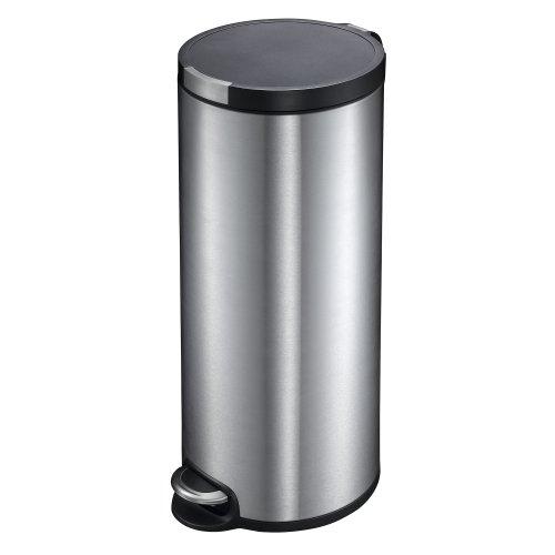30l Pedal Bin (Household Essentials EKO Artistic Stainless Steel Round Step Waste Bin with Soft Close Lid, 30-Liter)