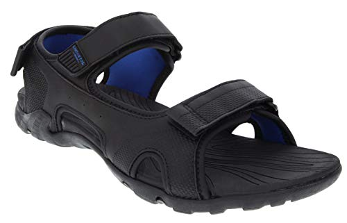 London Fog Mens Sailor Fisherman Sandals Black 9 M US]()