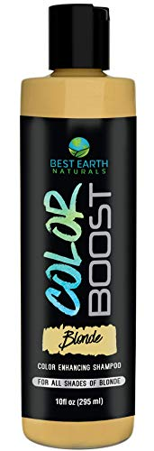 Best Earth Naturals Color Boost Blonde Color Enhancing and Depositing Shampoo for Men and Women Color: All Shades of Blonde 10 oz