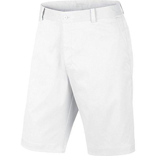NIKE Dri-Fit Flat Front Tech Short, White, 36
