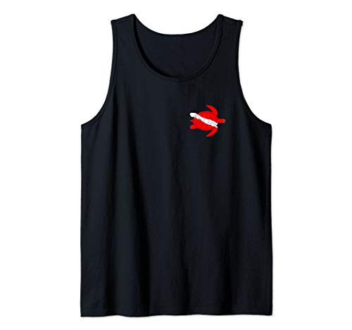 Sea Turtle Shirt Dive Flag Scuba Diving Lovers Diver   Tank Top