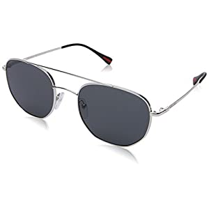 Prada Linea Rossa  Men's 0PS 56SS Silver/Grey Sunglasses