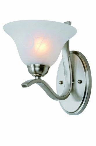 Trans Globe Lighting PL-2825 BN Hollyslope Indoor Brushed Nickel Traditional Wall Sconce, ()