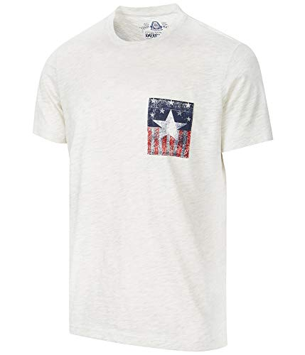 American Rag Mens Pocket Basic T-Shirt, Beige, Medium