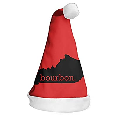 Full-Y'dream Kentucky Bourbon Santa Hat Chrismas Hat Novelty Xmax Hat Cap