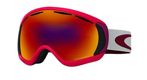 Oakley Men's Canopy Snow Goggles, Red Oxide, Prizm Torch Iridium, - Red Goggles Oakley Ski