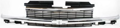 Evan-Fischer EVA17772010881 Grille Assembly Grill Plastic shell and insert Gray With chrome center bar (99 Blazer Grill compare prices)