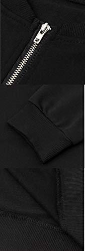 Donna Bomber Coat Autunno Giacca Quotidiani Patchwork Primavera Jacket Manica fashion Corto Nero E Giacche Casual Moda Blouse Cappotto Simple Tops Outerwear Lunga pqFngIx