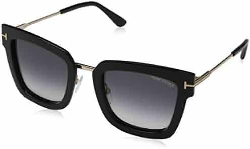 70baa7b4fd Sunglasses Tom Ford FT 0573 Lara- 02 01B shiny black   gradient smoke