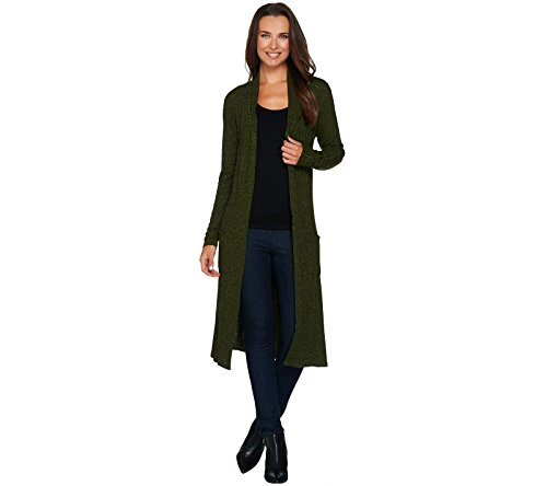 Lisa Rinna Collection Open Front Duster Cardigan A280325