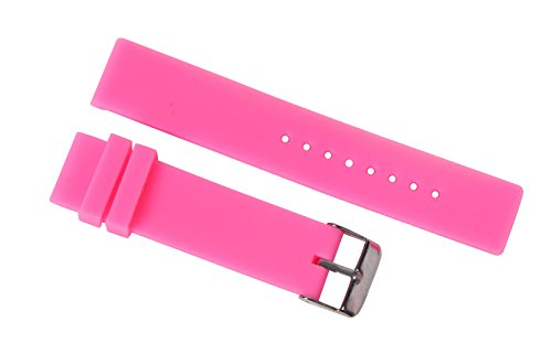 20mm Sporty Silicone Belt for Watches in Pink Dive Watches Straps Neoprene with Classic Pin Buckle (Dive Silicon Strap)