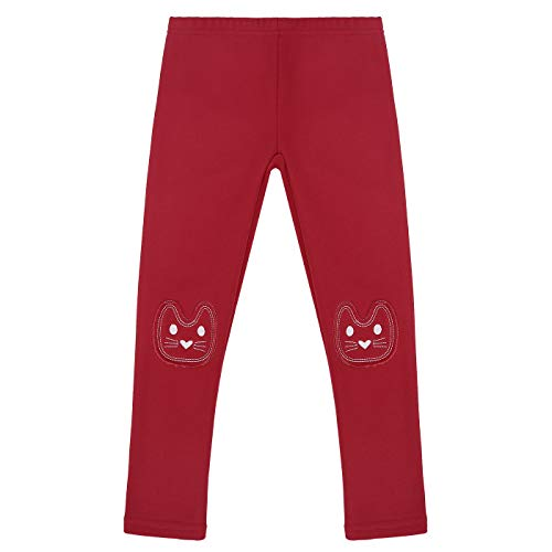 Price comparison product image HDE Girls Fleece Winter Knit Leggings Kids Nordic Stretch Pants Footless Tights