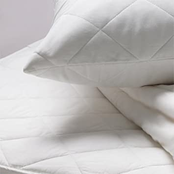 Linens Limited Polycotton Quilted Pillow Protectors, Pair: Amazon ... : quilted pillow protector - Adamdwight.com