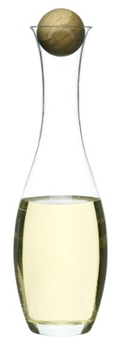 White Wine Bottle Stopper (Sagaform 5015336 Wine/Water Carafe with Oak Stopper)