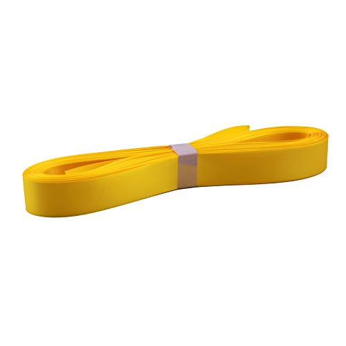 Fine Polyester Double Face Satin Ribbon, 1inches x 24yd/roll (25mm x 21.9m), Yellow ()