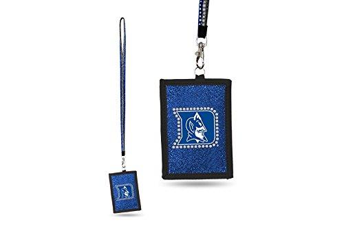Rico NCAA Duke Blue Devils Beaded Gem Lanyard with ID Wallet