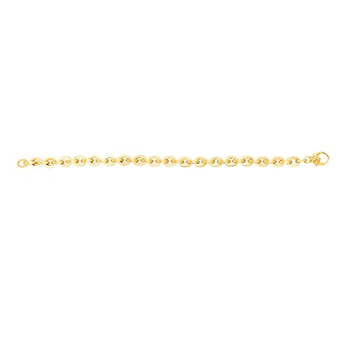 14kt Yellow Gold 6.5mm Shiny Oval Link Fancy 7.5