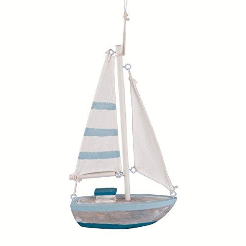 Mini Sailboat (GALLERIE II AQUA SAILBOAT ORN Aqua)