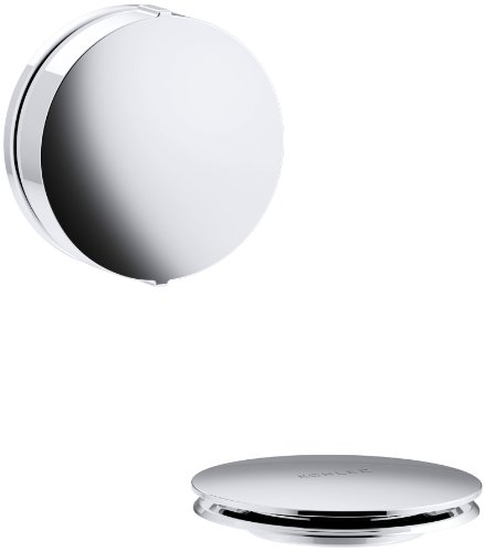 KOHLER K-T37392-CP PureFlo Cable Bath Drain Trim with Contemporary Rotary Turn Handle, Polished Chrome - Modular Waste Drain