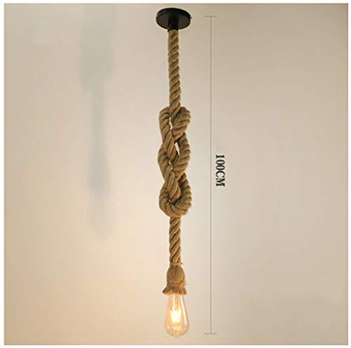 (DYV Led Single Head Hemp Rope Pendant Light Bulb Base Ceiling Plate Line Retro Industrial Hanging Lamp Hoder 110-220v )