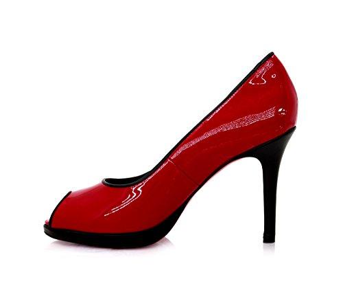 Donne Rosso Diamante Delle Scarpette Tacchi Rosse qwSXOxtA