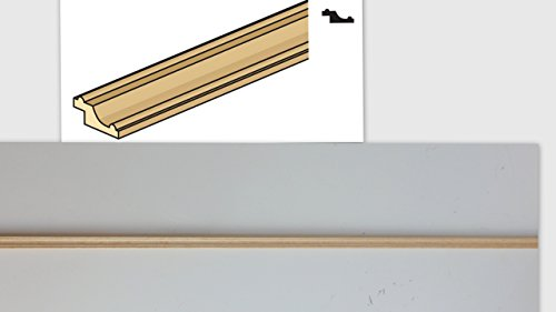 - Melody Jane Dolls Houses House Builders Diy 1:12 Scale Wood Timber Pfe-5 Picture Rail Frame