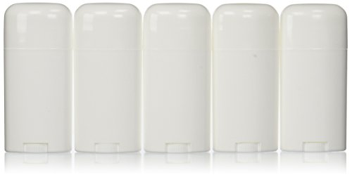 Deodorant Containers, New & Empty; Pack of 5