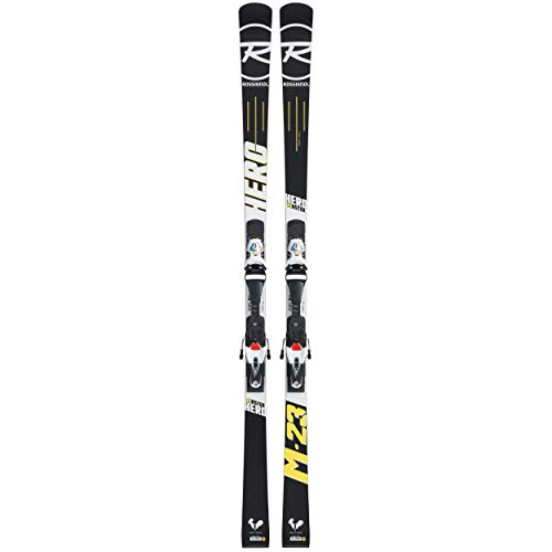 Rossignol – Pack Ski Hero Master (r21 WC) + Fixations Spx 15 Rockerflex White Icon – Mixte – Noir