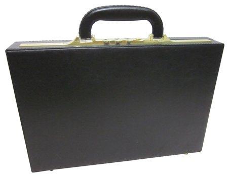 Slim Attache - AmeriLeather Slim Executive Faux Leather Attache Case (Black)