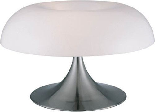 Lite Source LS-2901PS/WHT Pliant Table Lamp, Polished Steel with White Acrylic Spiral Shade by Lite Source