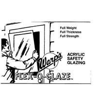Warps 80g-2830 28'' X 30'' Flex-O-Glaze® Acrylic Safety Glaze