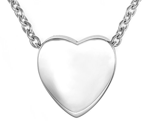 Zoey Jewelry Floating Heart Rose Gold Cremation Urn Pendant Necklace Pendant & Fill Kit 316L Grade Stainless Steel (Silver Tone)