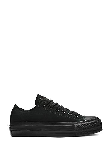 Converse Lined Sneakers - Converse Womens Chuck Taylor All Star Lo Platform (8 B US, Black 9580)