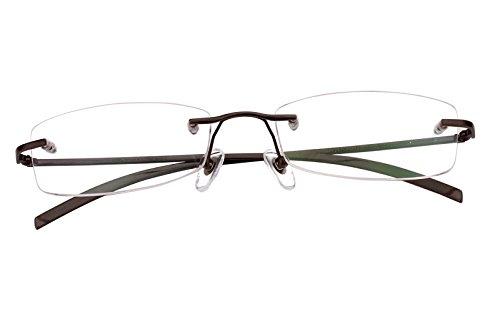 Agstum Pure Titanium Rimless Glasses Prescription Eyeglasses Rx (Gray, 53) by Agstum (Image #3)