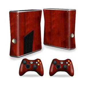 MightySkins Skin Compatible with Microsoft Xbox 360 S Slim + 2 Controller Skins wrap Sticker Skins Cherry - Cherry Craftsman