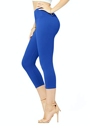 Premium Ultra Soft High Waisted Leggings - 20+ Colors in Capri and Full Length - Regular and Plus Size