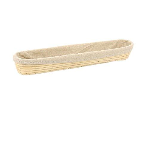 Long Baguette - 17 inch Long Baguette Bread Proofing Basket, BetterJonny Artisan Banneton Brotform Dough Rising Rattan Basket +Liner Combo Set for Professional and Home Bakers